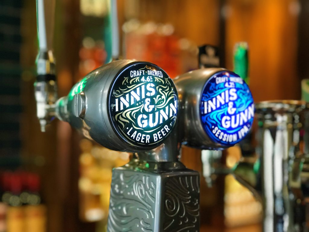 innis and gunn beer taps social media post